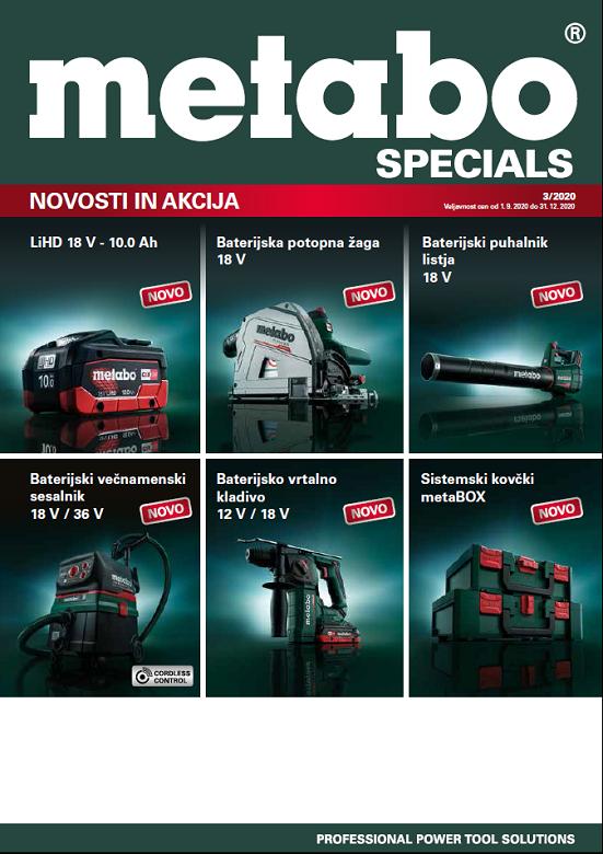 Akcijski katalog Metabo Specials 3/2020